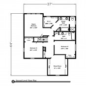 Gainesville floorplan 2 175x175 Stock Plans