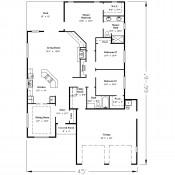 Oaksdale floorplan 175x175 Stock Plans